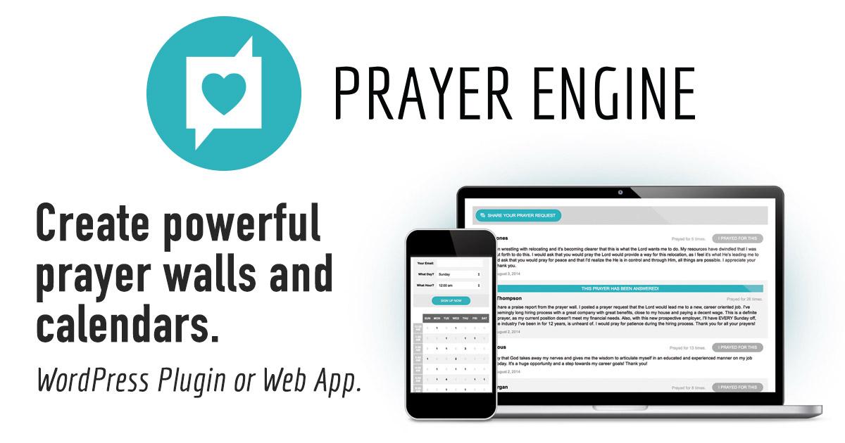 Prayer Engine - A Premium WordPress Plugin and Web App
